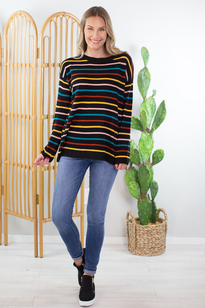 Lucy Striped Sweater- 2 colors!