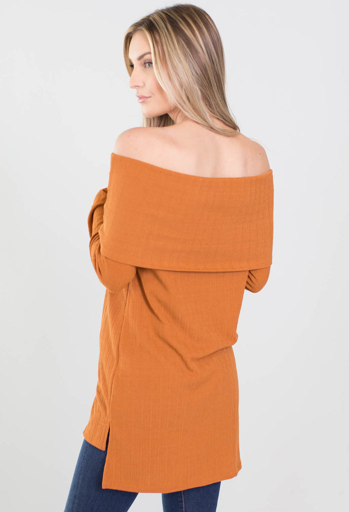 Clueless Off The Shoulder Wrap Knit Top