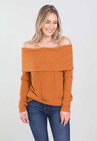 Breinnan Cold Shoulder Top