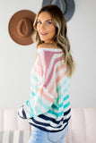 Spring Fun Striped Sweater