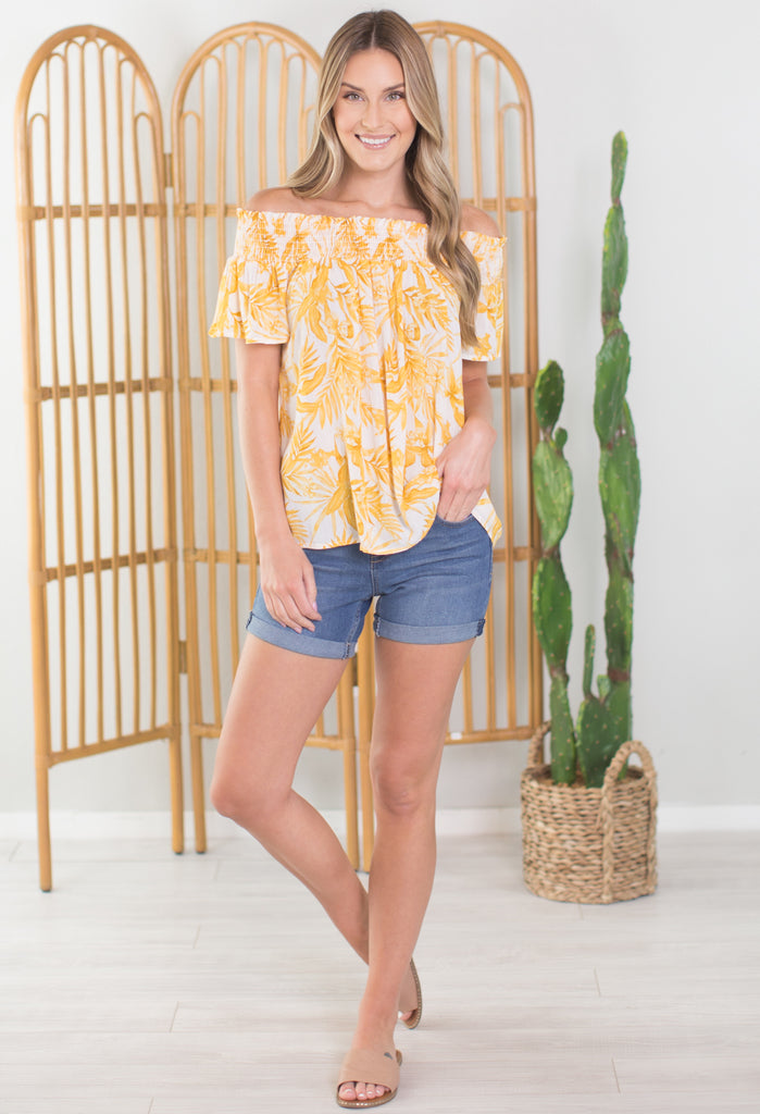 Daffodil Off the Shoulder Top
