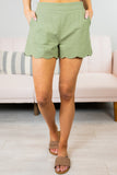 Susie Q Scalloped Shorts