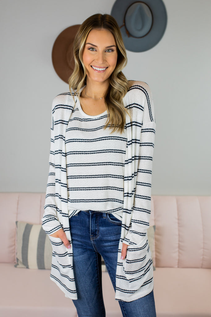Georgia Striped Cardigan