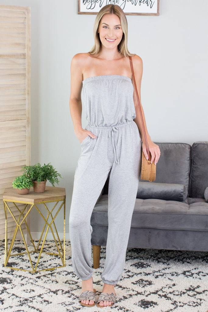 Mya Strapless Jumpsuit - 2 Colors