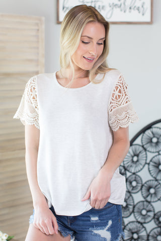 Merida Lace Detail Top - 2 Colors