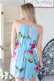 Cool Waters Floral Romper
