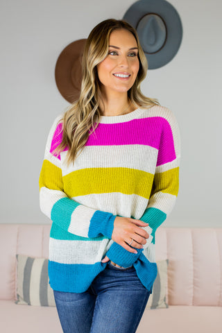 Fall Comfy Colorblock Top