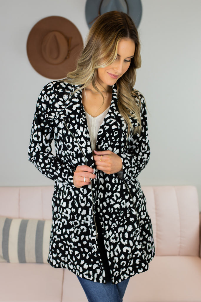 Boss Babe Leopard Print Jacket - 2 Colors
