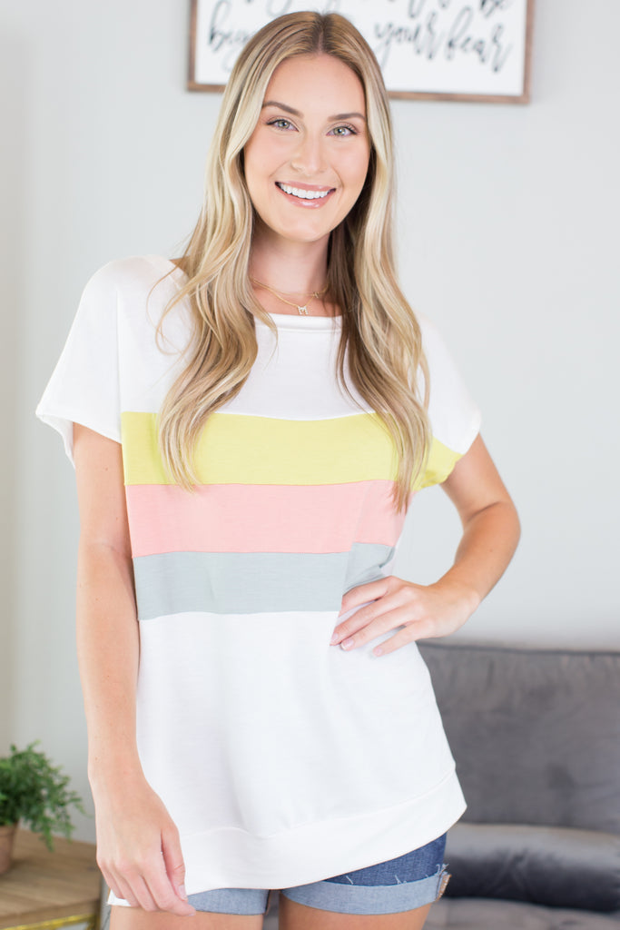 The Wonder Years Colorblock Top - 2 Colors
