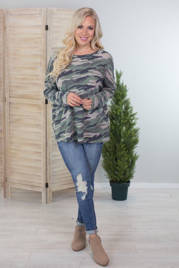 Under Disguise Camo Top