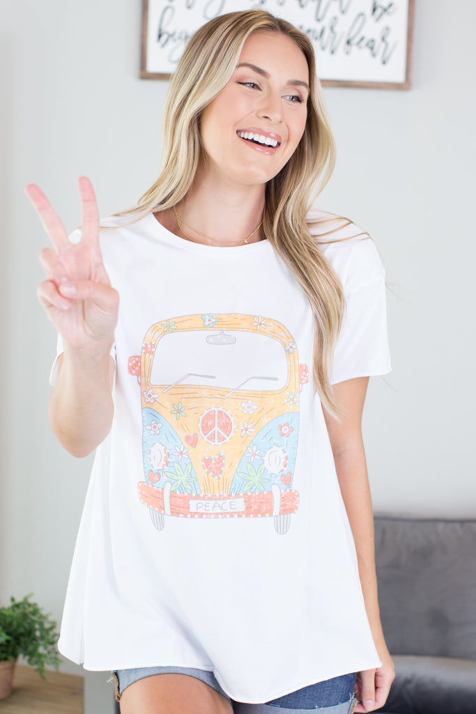 Peace And Love Graphic Tee - 2 Colors