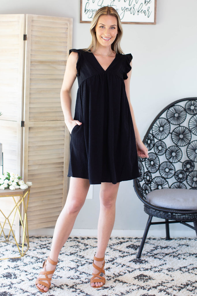 Wilder Ruffle Sleeve Dress