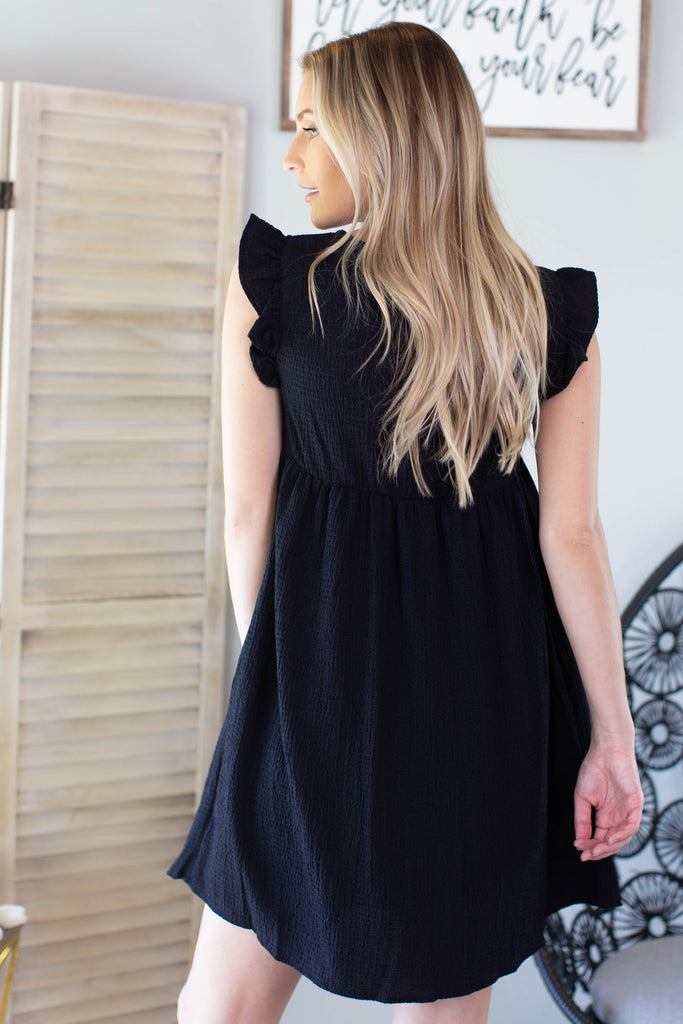 Wilder Ruffle Sleeve Dress - 2 Colors
