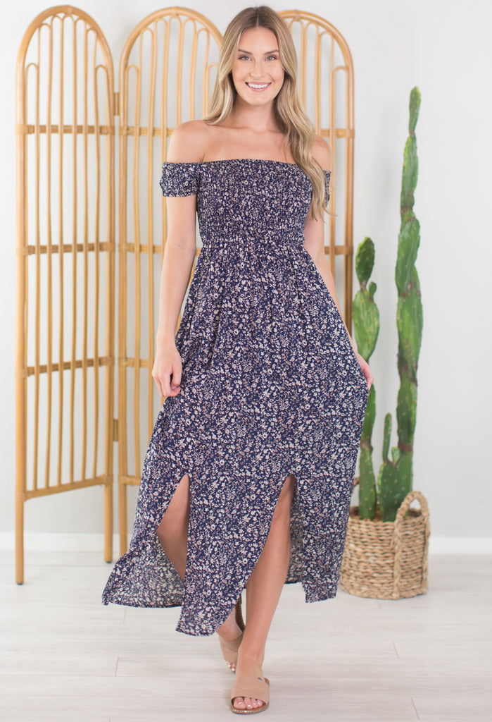 Summer In The Valley Off The Shoulder Dress