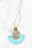 Evil Eye Tassel Necklace
