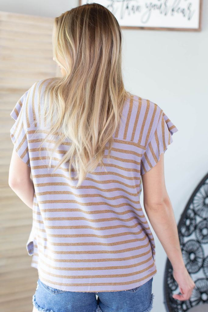 Purple Rain Striped Top