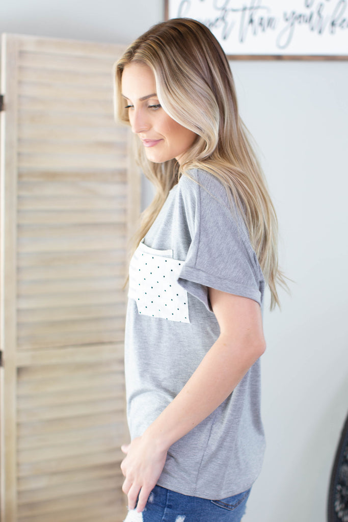 Polk a Dot Pocket Top