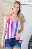 Roller Derby Striped Tank