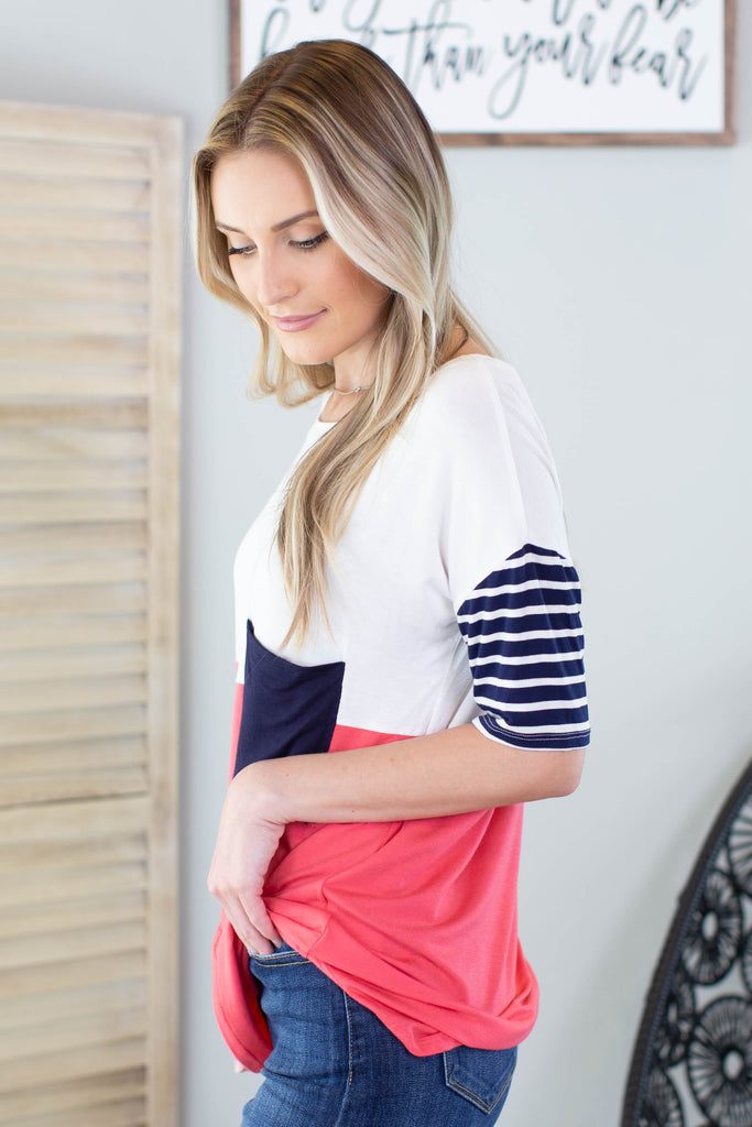 Colorblock Pocket Top
