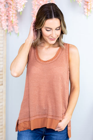 Meg Colorblock Lace Detail Top