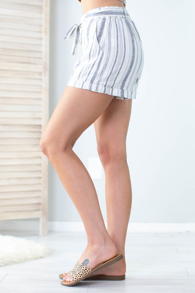 Business As Usual Striped Shorts- 2 colors!