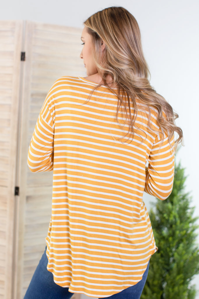 Yellow Brick Road Striped Top