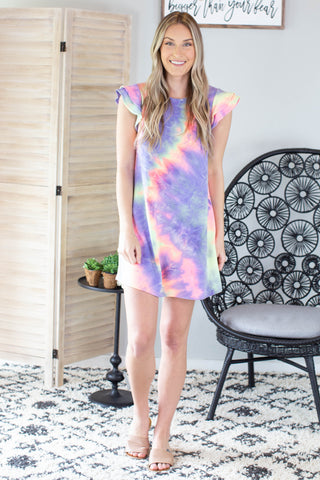 Sea Shore Tie Dye Romper