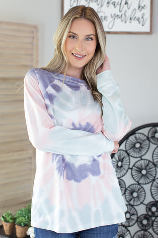 Seattle Tie Dye Lace Top