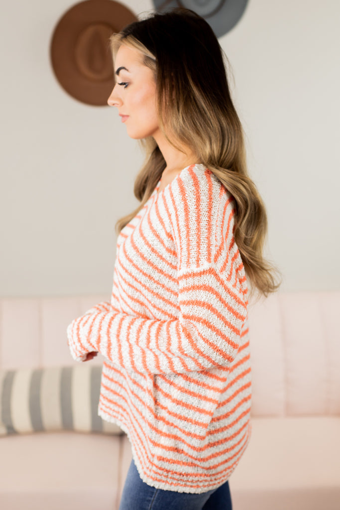 Spring Nights Striped Sweater