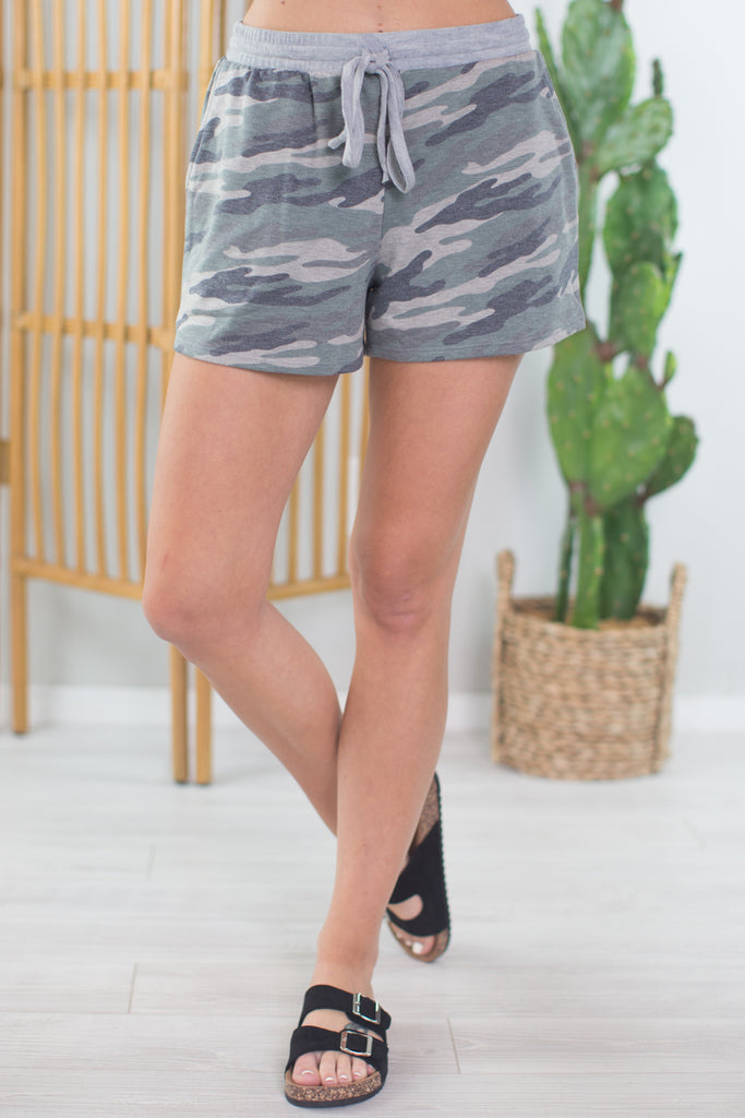 Comfy Time Camo Shorts