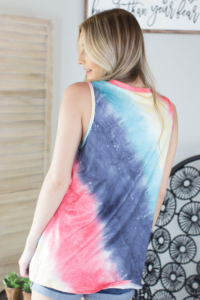 Tie Dye Twist Top - 2 Colors