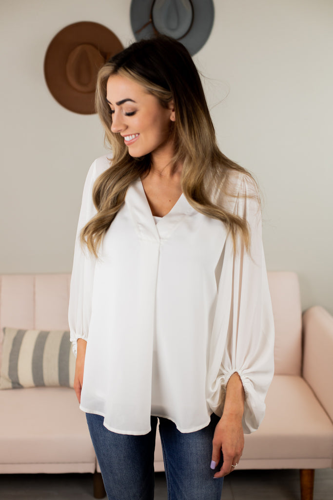 Pretty Days Balloon Sleeve Top