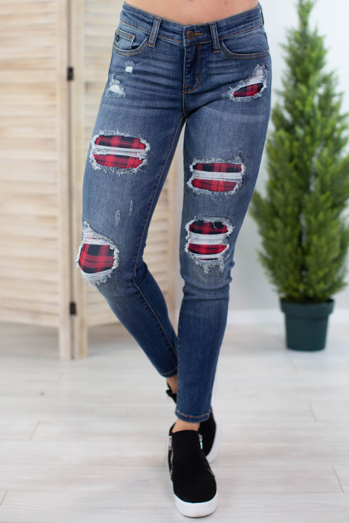 Judy Blue Flannel Jeans