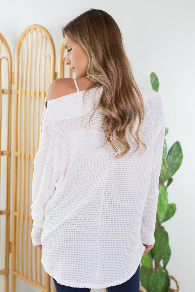 First Date Off the Shoulder Sweater