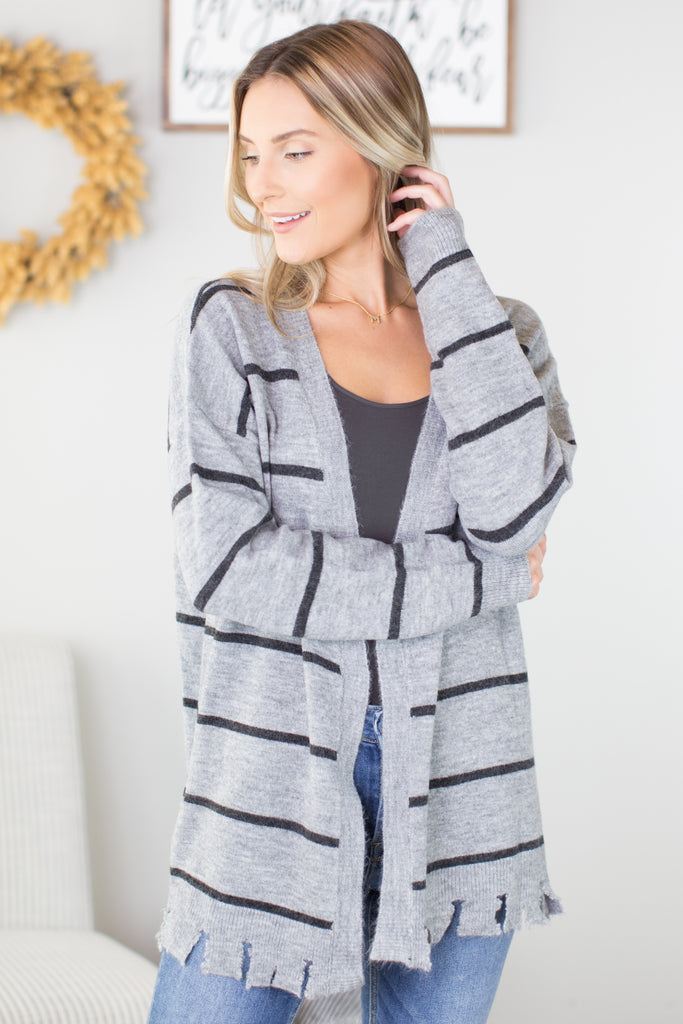 Thriller Striped Cardigan - 2 Colors