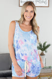 Blue Skies Tie Dye Pocket Tank