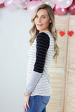 Color Block Striped Top