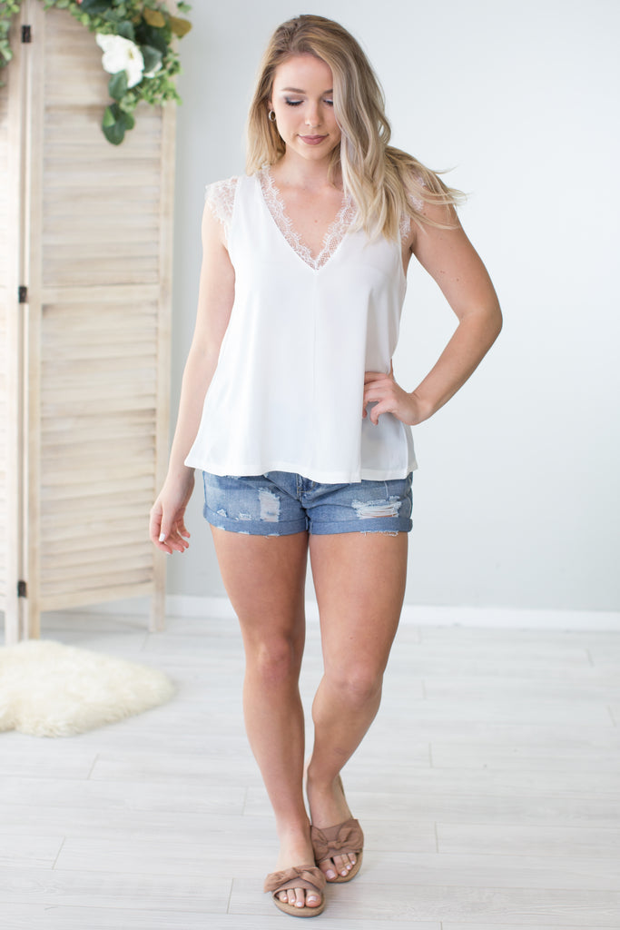 Reversible Sleeveless Lace Top-2 Colors!!