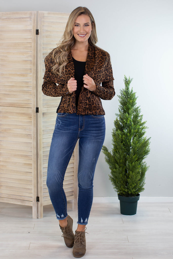 Animal Print Moto Jacket
