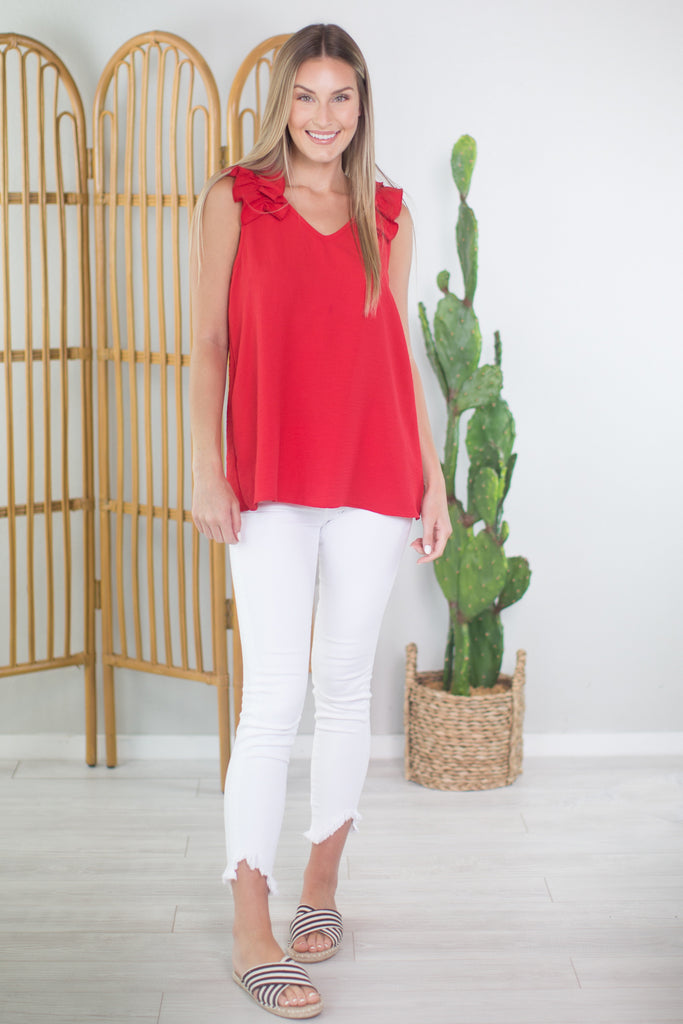 Summer Night Shoulder Accent Top