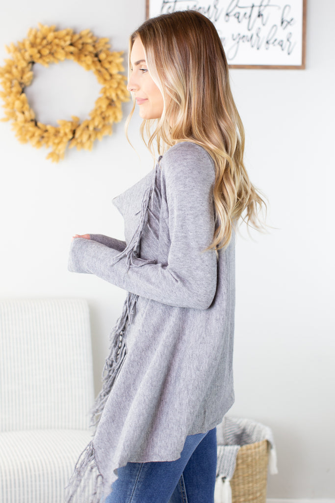 Wrap Me Up Fringe Cardigan - 5 Colors