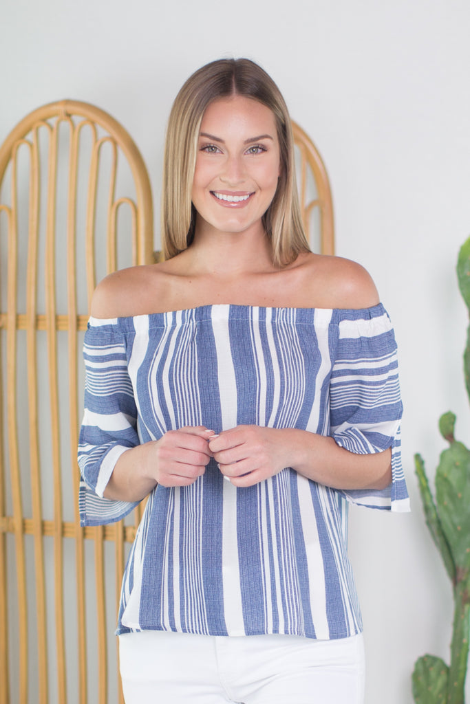 Ocean Tide Off Shoulder Top