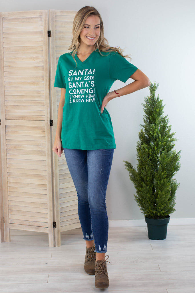 Santa's Coming Graphic Tee