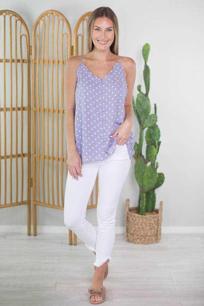 Polk a Dot Love Tank