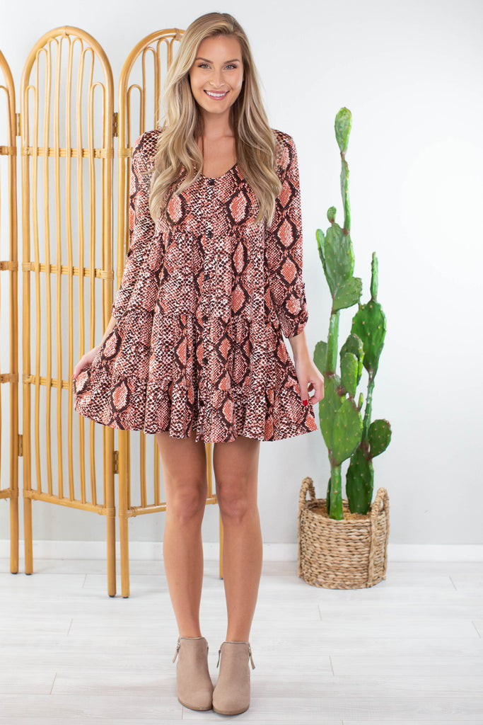 Plains Snakeskin Dress