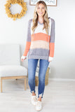 .Pumpkin Patch Striped Sweater- Restock! Will not ship until 9/22.