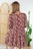 Kiara Floral Cold Shoulder Dress