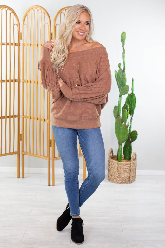 Autumn Harvest Off The Shoulder Sweater
