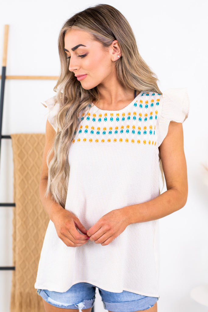 Amelia Embroidered Top