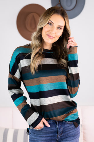 Roxy 3/4 Sleeve Top-2 Colors!!